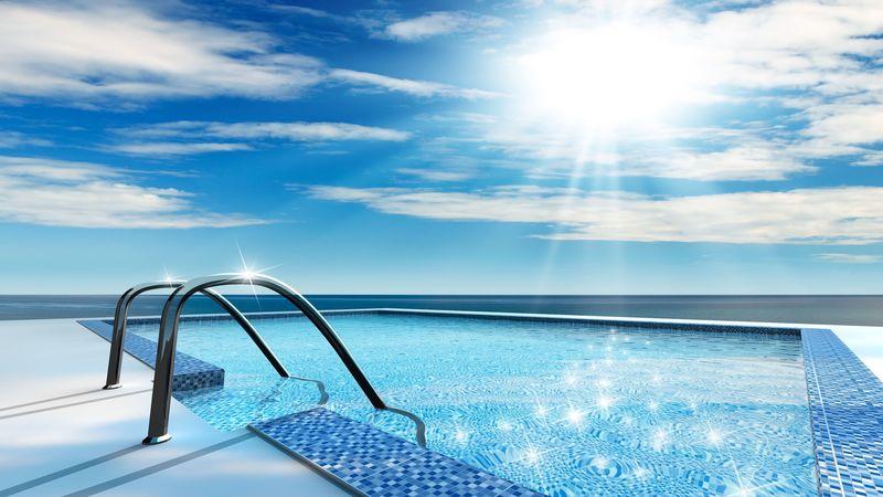 2860292 – luxury home swimming pool near the sea